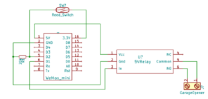 Garage Door Opener Wemos Schematic